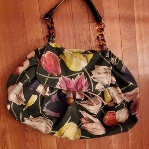 Mrs albright canvas top handle hobo bag